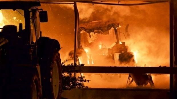 Southland Farm Machinery Fire