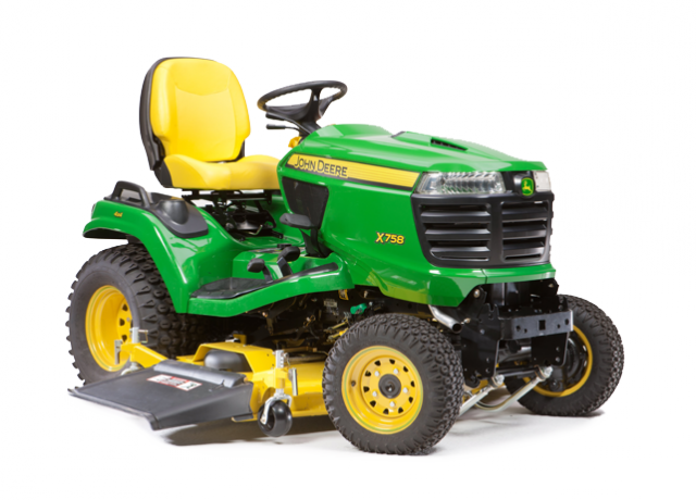 John Deere X758 Ride-On Lawnmower