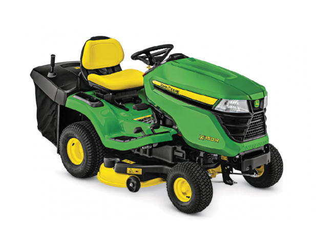 John Deere X350R Riding Lawn Tractor - Rear Catching
